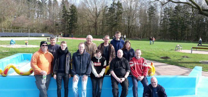 Aufbau Schwimmbad Waldeck 2016